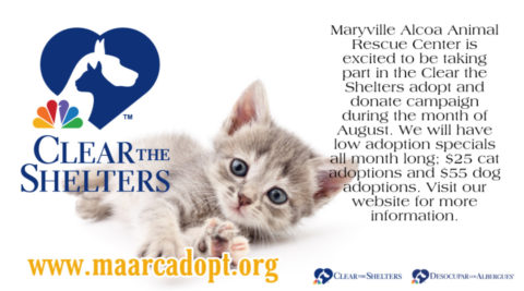 Clear the Shelters Adopt and Donate Event